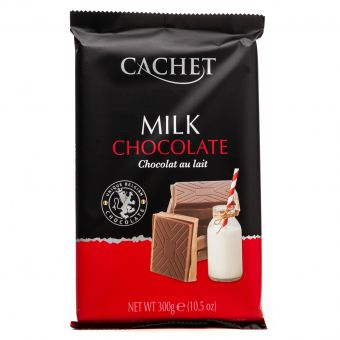 Молочный шоколад Cachet какао 32% 300 г