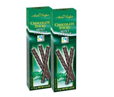 Конфеты Maitre Truffout Chocolate Sticks Mint Flavour 75г